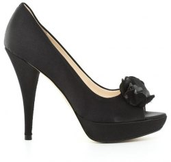 Boutique 9 By NineWest Ύφασμα Σατέν και Δέρμα Τελατίνι Γοβα