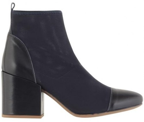 Ankle Boots Feng Shoe Δέρμα Τελατίνι και Υφασμα