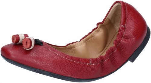 Μπαλαρίνα Bally Shoes ballerine rosso pelle BY33
