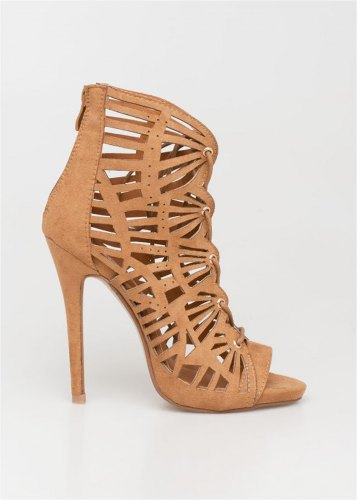 Lena lace up sandal, καμηλό