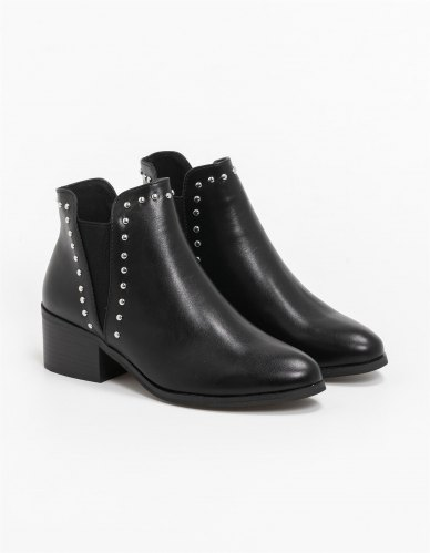 Classic chelsea ankle boots με ασημί τρουκς